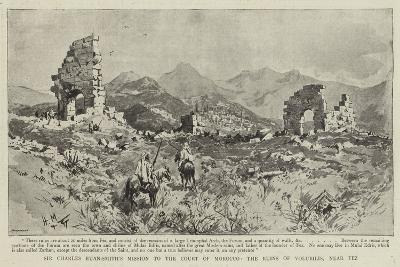 Sir Charles Euan-Smith's Mission to the Court of Morocco, the Ruins of Volubilis, Near Fez--Giclee Print