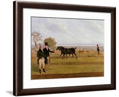 Sir Charles Morgan at the Castleton Ploughing Match, 1845-James Flewitt Mullock-Framed Giclee Print