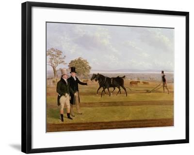 Sir Charles Morgan at the Castleton Ploughing Match, 1845-James Flewitt Mullock-Framed Giclee Print