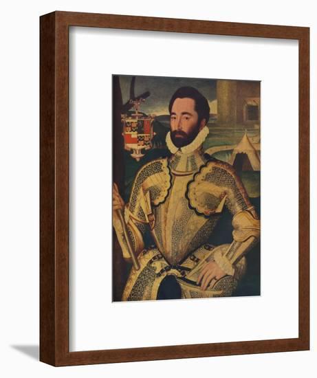 'Sir Charles Somerset', c1566-George Gower-Framed Giclee Print