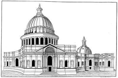 Sir Christopher Wren's Original Model for St Paul's Cathedral, London, C1670-1672-Arthur Robertson-Giclee Print