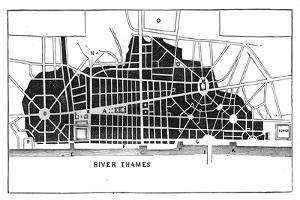 Sir Christopher Wren's Plan for Rebuilding London after the Great Fire 1666