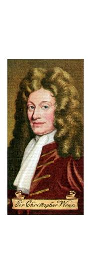 Sir Christopher Wren, taken from a series of cigarette cards, 1935. Artist: Unknown-Unknown-Giclee Print