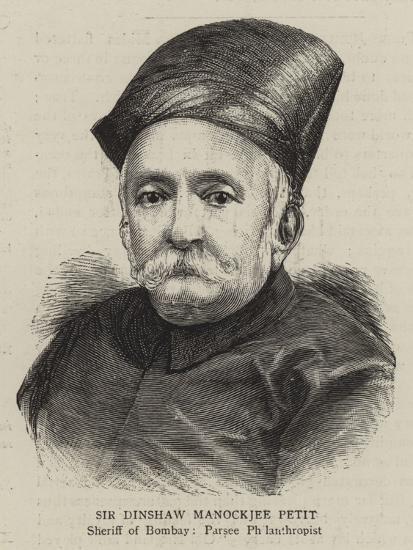 Sir Dinshaw Manockjee Petit--Giclee Print