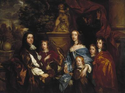 Sir Edward Hales and His Family, 1656-Peter Lely-Giclee Print
