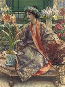 A Hot-House Flower, 1909 (Watercolour, Bodycolour, Gum Arabic, Heightened with Gold) by Sir Edward John Poynter