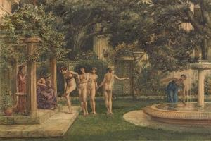 A Visit to Aesculapius, 1875 by Sir Edward John Poynter