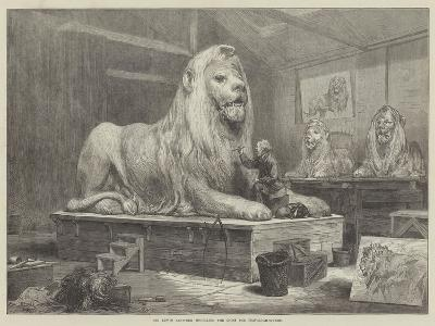 Sir Edwin Landseer Modelling the Lions for Trafalgar-Square-Arthur Hopkins-Giclee Print