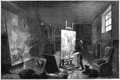 Sir Edwin Landseer's (1802-197) Studio, Brighton, East Sussex, 1874--Giclee Print