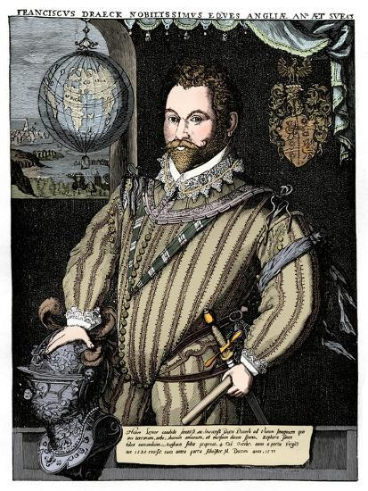 Sir Francis Drake, 16th century, (1910)-Unknown-Giclee Print