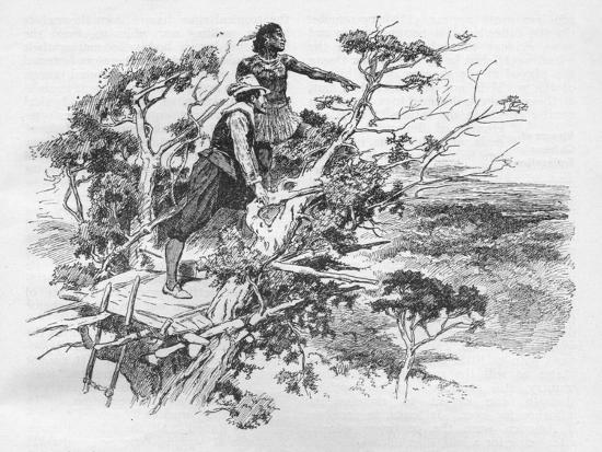 Sir Francis Drake's first sight of the Pacific Ocean, 1578 (1908)-Unknown-Giclee Print