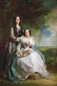Lady Adeliza Manners and Lady Mary Foley, 1848 by Sir Francis Grant