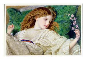 Dreams, C.1861 (W/C, Bodycolour and Gum over Graphite on Card) (See 133888) by Sir Frederick William Burton