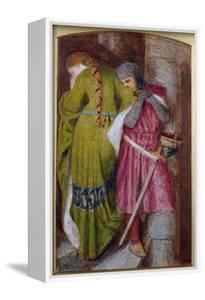 Meeting on the Turret Stair, Helellil and Hildebrand, 1864 by Sir Frederick William Burton