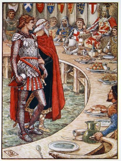 'Sir Galahad is brought to the Court of King Arthur', 1911-Unknown-Giclee Print