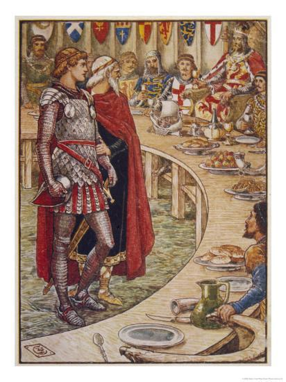 Sir Galahad is Introduced to the Round Table-Walter Crane-Giclee Print
