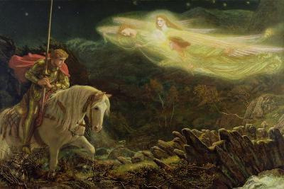 Sir Galahad - the Quest of the Holy Grail, 1870-Arthur Hughes-Giclee Print