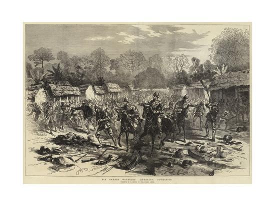 Sir Garnet Wolseley Entering Coomassie--Giclee Print