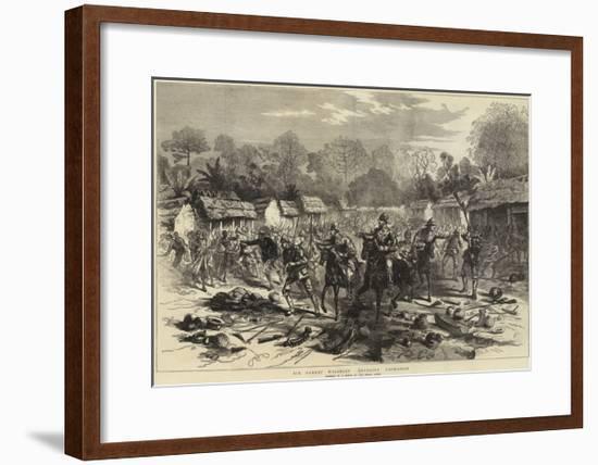 Sir Garnet Wolseley Entering Coomassie--Framed Giclee Print