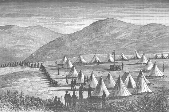 'Sir Garnet Wolseley's Camp at Ulundi: Zulus Coming In To Give Up Their Arms', c1880-Unknown-Giclee Print