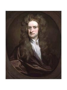 Portrait of Sir Isaac Newton by Sir Geoffrey Kneller