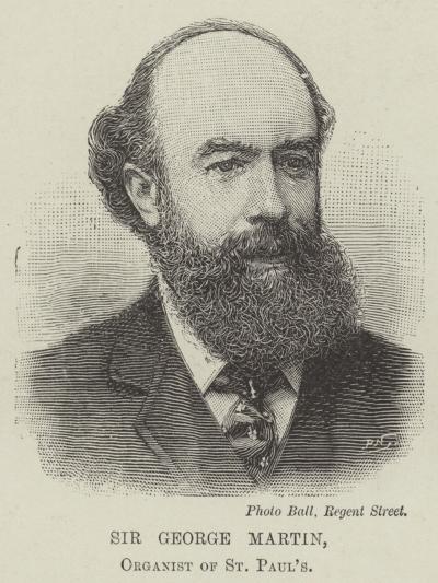 Sir George Martin, Organist of St Paul's--Giclee Print