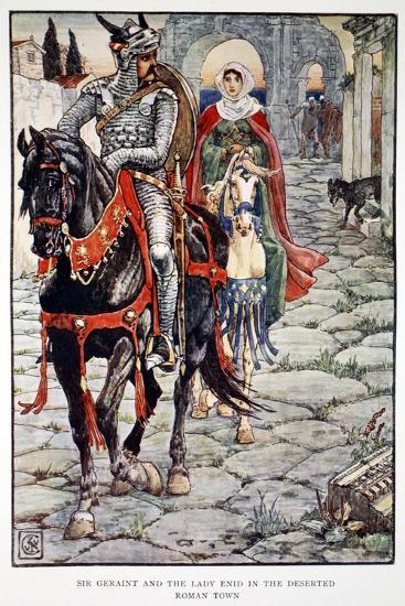 'Sir Geraint and the Lady Enid in the Deserted Roman Town', 1911-Unknown-Giclee Print