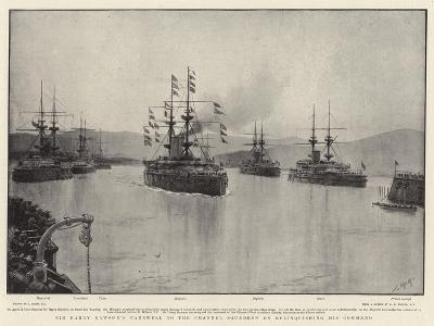 Sir Harry Rawson's Farewell to the Channel Squadron on Relinquishing His Command-Joseph Nash-Giclee Print