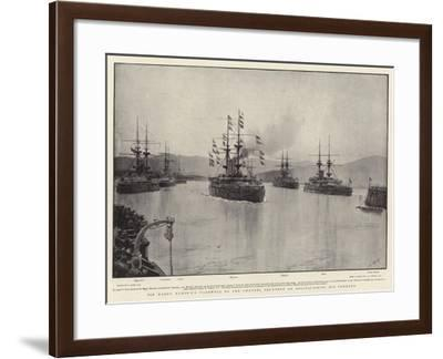 Sir Harry Rawson's Farewell to the Channel Squadron on Relinquishing His Command-Joseph Nash-Framed Giclee Print