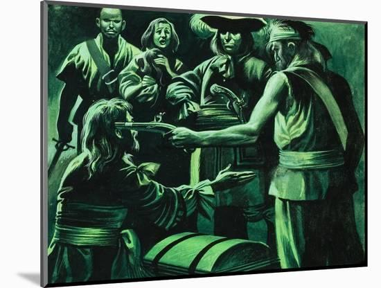 Sir Henry Morgan and Chest of Treasure-Ron Embleton-Mounted Premium Giclee Print