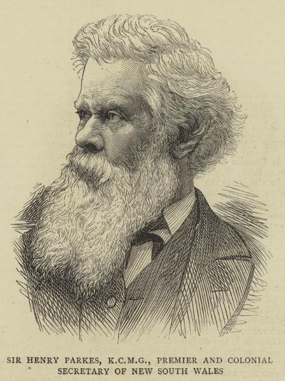 Sir Henry Parkes, Premier and Colonial Secretary of New South Wales--Giclee Print