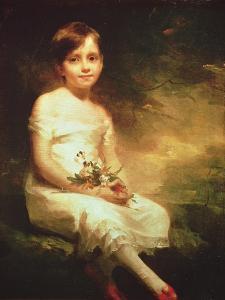 Little Girl with Flowers or Innocence, Portrait of Nancy Graham by Sir Henry Raeburn