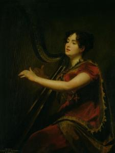 The Marchioness of Northampton, Playing a Harp, circa 1820 by Sir Henry Raeburn