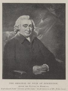 The Original of Weir of Hermiston by Sir Henry Raeburn