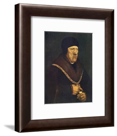 'Sir Henry Wyatt', c1537, (1909)-Hans Holbein the Younger-Framed Giclee Print