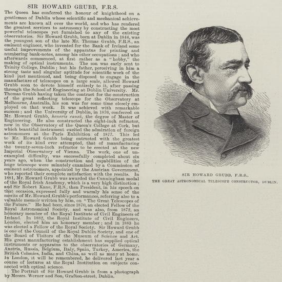 Sir Howard Grubb, Frs, the Great Astronomical Telescope Constructor, Dublin--Giclee Print