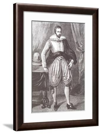 Sir Hugh Willoughby, English Navigator and Explorer, 16th Century--Framed Giclee Print