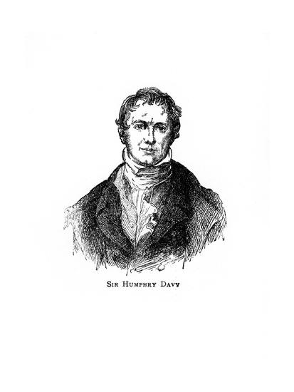 Sir Humphry Davy, Cornish Chemist and Physicist--Giclee Print