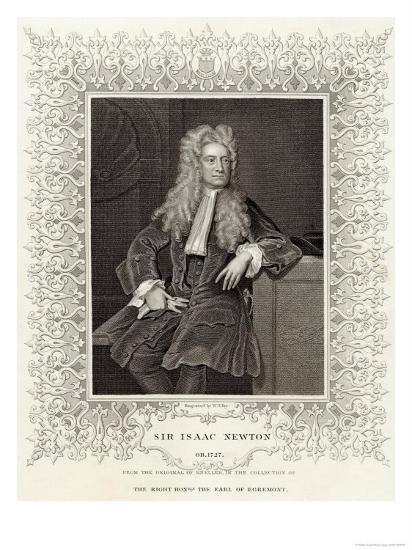 Sir Isaac Newton Mathematician Physicist Occultist--Giclee Print