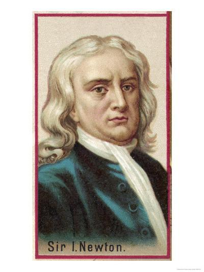 Sir Isaac Newton Mathematician Physicist Occultist--Giclee Print