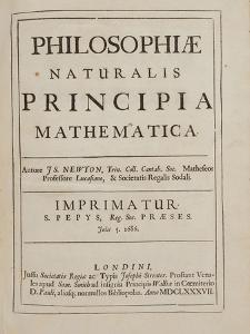 Philosophiae Naturalis Principia Mathematica by Sir Isaac Newton