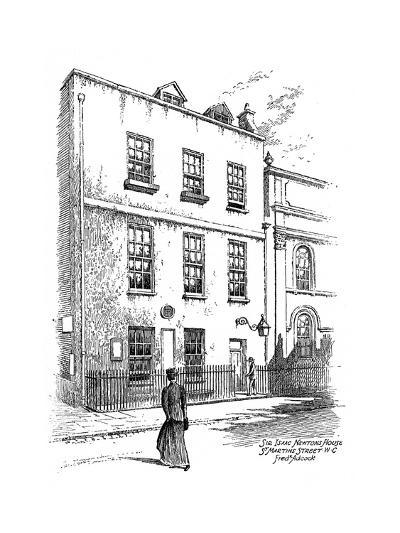 Sir Isaac Newton's House, St Martins Street, London, 1912-Frederick Adcock-Giclee Print