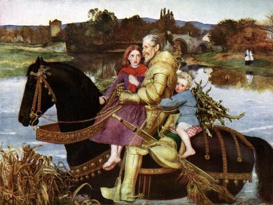 Sir Isumbras at the Ford, C19th Century-John Everett Millais-Giclee Print