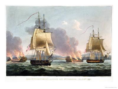 Sir J. T. Duckworth's Action off St. Domingo, February 6th 1806-Thomas Whitcombe-Giclee Print