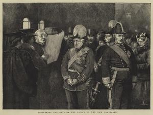 Delivering the Keys of the Tower to the New Constable by Sir James Dromgole Linton