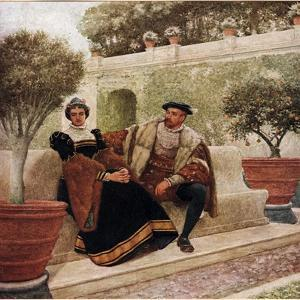 Lorenzo and Jessica, Illustration from 'The Merchant of Venice', c.1910 by Sir James Dromgole Linton