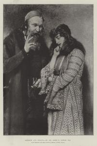 Shylock and Jessica, in the Exhibition of the Royal Institute of Painters in Water Colours by Sir James Dromgole Linton