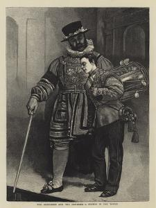 The Beefeater and the Drummer, a Sketch in the Tower by Sir James Dromgole Linton
