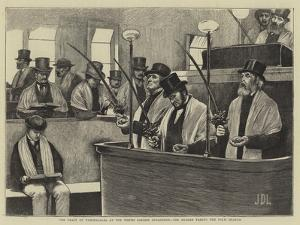 The Feast of Tabernacles at the North London Synagogue, the Reader Taking the Palm Branch by Sir James Dromgole Linton