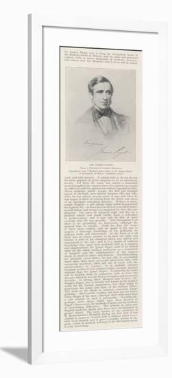 Sir James Paget-George Richmond-Framed Giclee Print